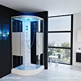´TroniTechnik Duschtempel Duschkabine Dusche Glasdusche Eckdusche Komplettdusche S100XC2HG01 100x100