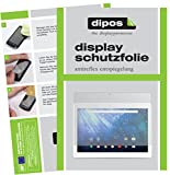 dipos I 2X Schutzfolie matt passend für Trekstor Surftab Breeze 10.1 Quad 3G Folie Bildschirmschutzfolie