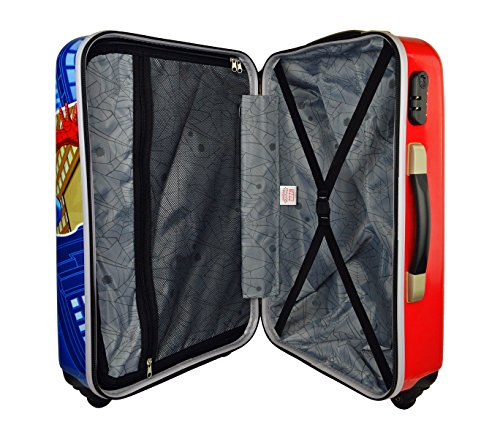 512mjNd52RL - 2451551 Maleta trolley rigida en ABS equipaje de mano SPIDERMAN 42x67x24cm