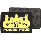 1 Paar FitnessExpress24 Pads Powerpads Zughilfen Griffpolster gelb