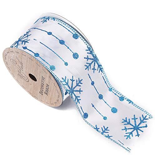 2-1/2Zoll Breite, 10Yard Spule Edge Craft Ribbon 2-1/2''x10yd 561 Snowflake Dream Blue Blue Ribbon Candy
