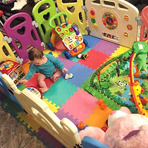 Baby Playpen - Centro de actividades para niños, juego de seguridad en el patio, interior y exterior, con 14 paneles, bolígrafo (14 Panel)