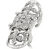 EVBEA® Gothic Cocktail Statement Full Finger Ring Fashion Unique Bling Biker Knuckle Rings