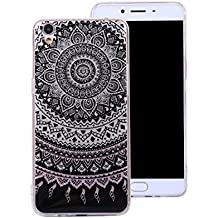 Ecoway Oppo R9 Case Cover, IMD Anti-scratch shockproof Fashion Case Protective Cover Cell Phone Case for Oppo R9 - Mandala