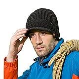 CATOP Berretti in Maglia Cappello Invernale Unisex Cappello da Sci Elegante Berretto con Visiera - Uomo