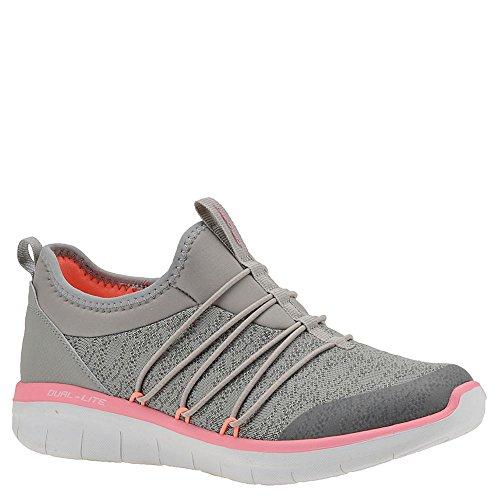 Skechers Synergy 2.0-Simply Chic, Allenatori Donna Grigio (Grey/pink)