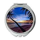 Yanteng Spiegel, Schminkspiegel, ruhige Strandwolken, Taschenspiegel, tragbarer Spiegel
