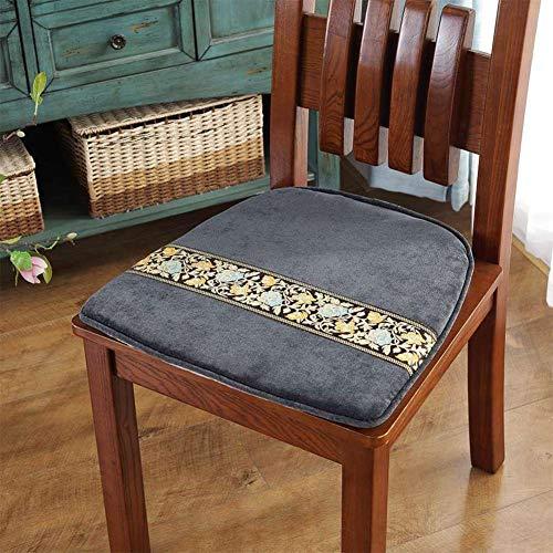 F-LFJBK Stuhl Platz Sitzkissen,Nicht-Slip Corduroy Dining Chair Sitz Auflage,Sofa Tatami Fenster Futon Matte Butt Kissen Polster-b 40x45cm(16x18inch)-rechteck