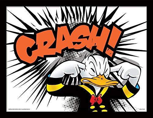 Pyramid International Donald Duck (Crash) 30x40 cm gerahmter Druck, 250GSM PAPERWRAP MDF, Mehrfarbig, 44 x 33 x 4 cm