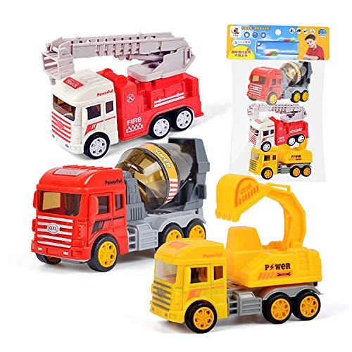 Auto zurückziehen LKW Spielzeuge Rennen Auto Parteibevorzugung Mini Autos Karikatur Go Kart Autos einstellen zum Jungs Kinder Kind Geburtstag Geschenke Spielen Kunststoff-Autoset