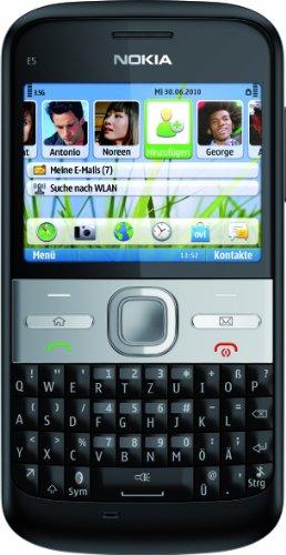 Nokia E5-00 Smartphone (6cm (2,3 Zoll) Display, Bluetooth, 5 Megapixel Kamera, QWERTZ-Tastatur) schwarz
