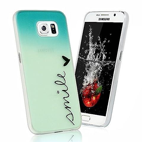 Samsung Galaxy S6Series case–YOKIRIN Etui Flip Colorful peinture en plastique PC Case Étui portefeuille avec [fente pour carte] [Fermeture Magnétique Support Intégré] [] confortable toucher Housse de protection