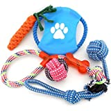 SMALLLEE_LUCKY_STORE XCW0019 Various Cotton Rope Interactive Toys Collection For Dogs, Multicolor, Medium