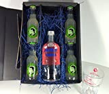 Absolut Vodka Lemon Set / Geschenkset – Absolut Vodka 70cl (40% Vol) + 4x Thomas Henry Bitter Lemon 200ml + Shakers Glas geeicht 4cl