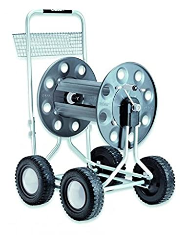 Claber D89000000 – Hose Trolley with 4 Wheels, (Carrello Jumbo In Acciaio)