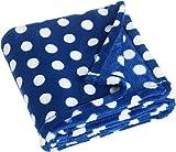 Playshoes 301710 Fleecedecke, Babydecke, Kuscheldecke Große Punkte, Maße ca. 75 x 100 cm