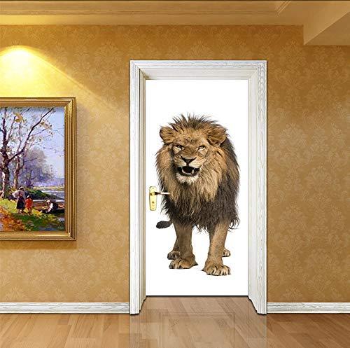Hwhz türaufkleber kinderzimmer 77X200 Cm Japanische Lange Zunge Teufel Tür Aufkleber Halloween Dekorationen Aufkleber Selbstklebende Pvc Tür Wandbild Holz Tür