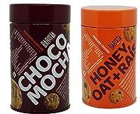 Barista Cookie Tin, 100 Gm Pack of 2 (Choco Mocha, Honey Oat Raisin)