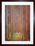 KLIMT TANNENWALD I OLD MASTER PAINTING FRAMED ART PRINT PICTURE F12X387 - The Art Stop - amazon.co.uk