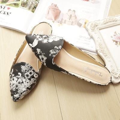 & Qq Chaussures plates, antidérapante Peas Chaussures, Sandales Lazy Chaussures, Chaussures de mode 42