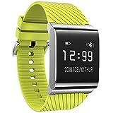 KOBWA Fitness Tracker, Fitness Armband mit Herzfrequenzmesser, Blutdruckmessung,Schlafanalyse, Schrittzähler, Push-Message und Anrufe, Wasserdichte Aktivitätstracker für Android und IOS (Grün)