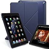 KHOMO Schutzhülle für iPad 24,6 cm (2017 & 2018), transparent, Rückseite – DUAL Origami Hybrid-Serie – horizontales und vertikales Display blau iPad 9.7 Inch (2017 & 2018)