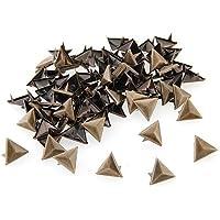 Gleader 100X Apliques Remaches Metal 14mm Triangulo Tachuelas Bolsa/Calzado/Guante