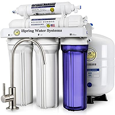RCC7 5-Stage Under-Sink Reverse Osmosis Drinking Water Filtration System - 75 GPD from iSpring