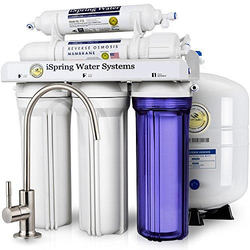 Wasser-filtration-fluorid (iSpring 75GPD 5stufige Umkehrosmose Wasser Filter System Modell rcc7)