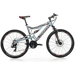 "Moma - Bicicleta Montaña Mountainbike 27,5"" BTT SHIMANO, aluminio, doble disco y doble suspensión, M-L (1,70-1,79m)"