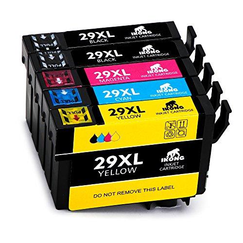 IKONG 29XL Compatibile per Epson 29 Cartucce Lavora con Epson Expression Home XP-235 XP-245 XP-255 XP-247 XP-332 XP-342 XP-345 XP-352 XP-432 XP-442 XP-445 XP-452 XP-455 XP-435 XP-257 XP-335 XP-355