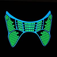 Glowing Animated DJ Party Mask - Green Equalizer - Sound Activated
