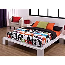 Funda Nordica 3 Pzas. Nordica (Cama 105 cm, Color Blanco)