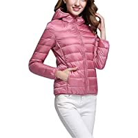 a97a4fa2c11f1 Down Puffer Jacket Coat Women s Hooded Packable Ultra Light Weight Short  Down Outdoor Coat