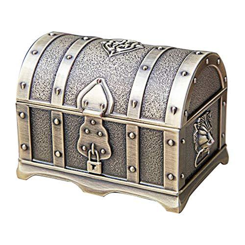 schmuckkästchen damen, Metall Kreative Europäische Retro Klassische Piratenbox Schatztruhe - Bronze