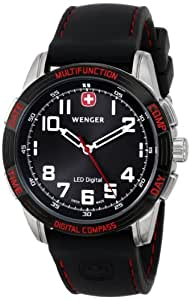 Wenger Men's Analogue Watch 70430 With LED Nomad Multifunction Digital Compass