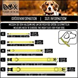 Hundehalsband Halsung aus Premium-Nylon verschiedene Farben und Groessen XS, S, M, L, XL: verstellbar, stabil, bequem, weich, farbig, fuer grosse und kleine Hunde (Leine und Geschirr separat erhaeltlich) (Farbe Schwarz, Größe XS – 1,0 x 21-30 cm) - 6