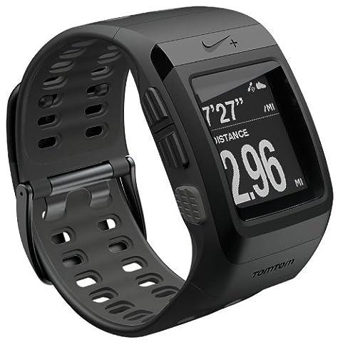 Nike+ SportWatch GPS Uhr powered by TomTom, schwarz mit anthrazitfarbener Innenseite, Modell 2012