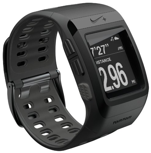 Nike+ SportWatch GPS Uhr powered by TomTom, schwarz mit anthrazitfarbener Innenseite, Modell 2012