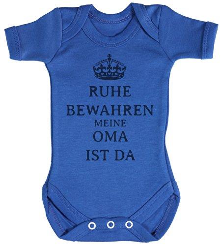 TRS - Ruhe Bewahren Oma Baby Bodys / Strampler 12-18 Monate Blau