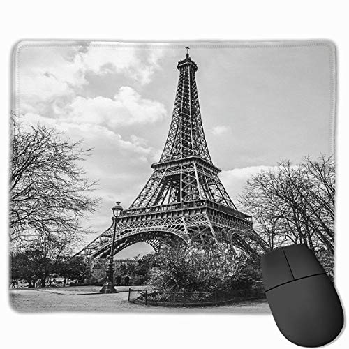 Snowday Grey Eiffel Tower Non-Slip Rubber Mouse Mat Mouse Pad for Desktops, Computer, PC and Laptops 9.8 X 11.8 inch (25x30cm)