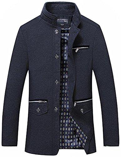 JZWXX - Manteau - Trench - Homme UK09 Blue
