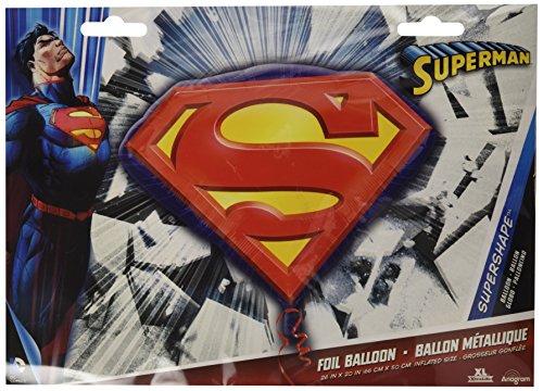 Amscan International S/Form Superman Emblem (Halloween-kostüme 10 Beliebtesten)