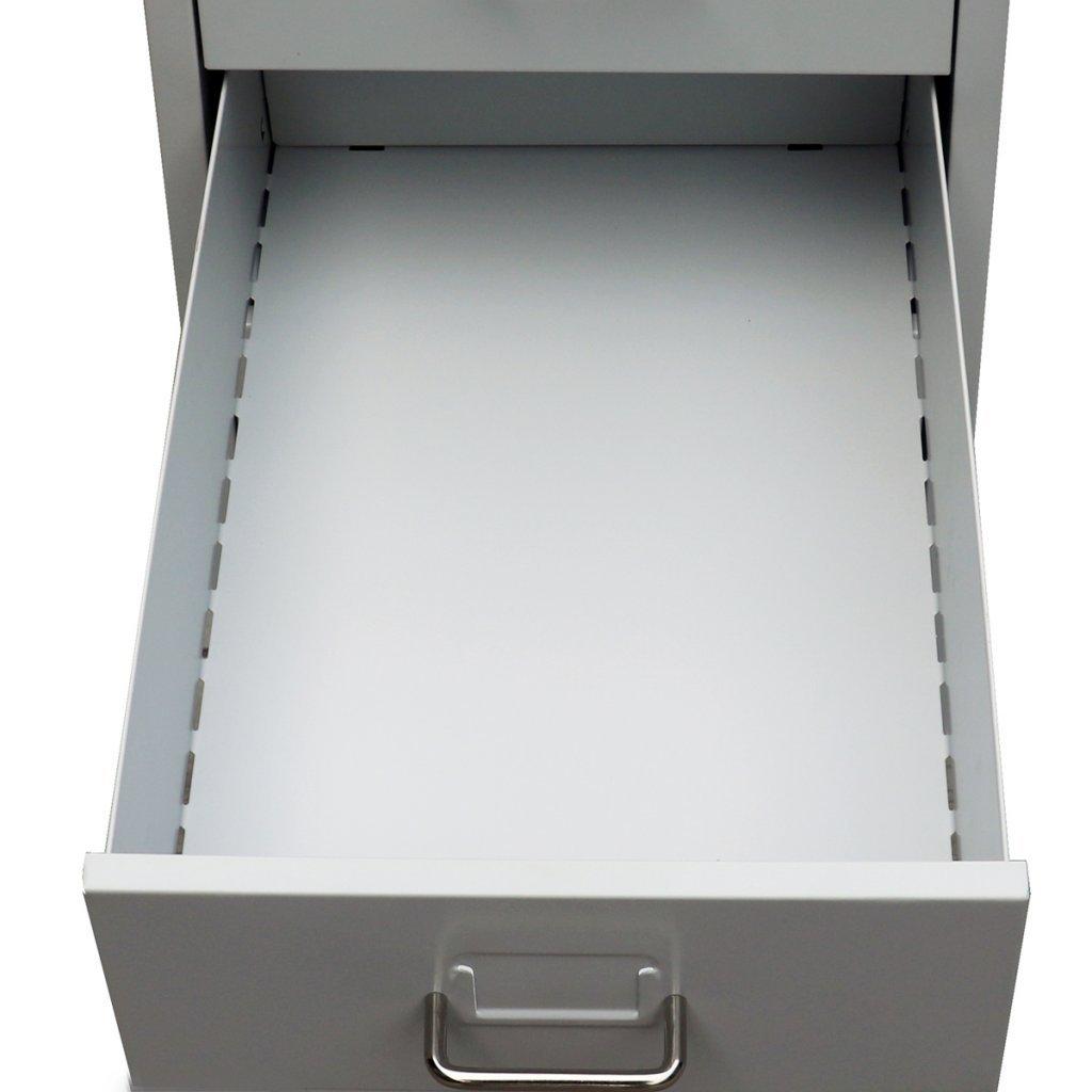 Cassettiera In Metallo Per Ufficio.Vidaxl Schedario Con 5 Cassetti Metallo Grigio Archivio