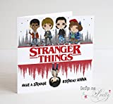 Stranger Things personalised Birthday Card