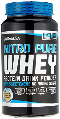 Vanille Pur Gesund (Biotech USA Nitro Pure Whey Bourbon-Vanille, 1er Pack (1 x 908 g))