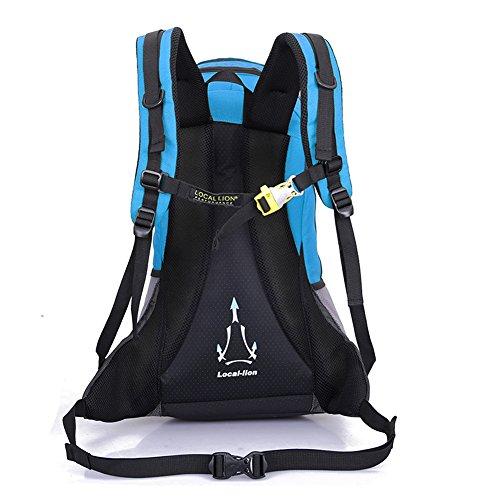 Diamond Candy Zaino da Trekking Outdoor Donna e Uomo con Protezione Impermeabile per alpinismo arrampicata equitazione ad Alta Capacit¨¤ borsa da viaggio,Multifunzione,22 litri Blu Blu