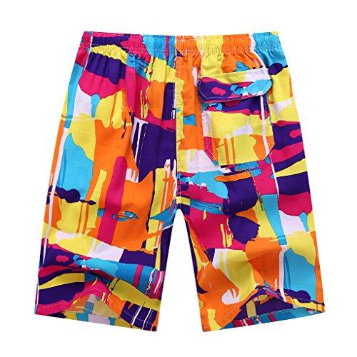 EOZY Herren Sommer Bermuda Badeshorts Strand Shorts Bunt