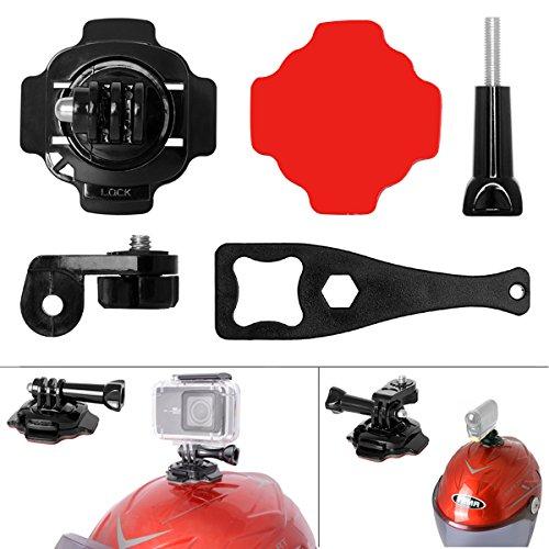 Fantaseal® 5-en-1 Kit Support de Casque Mount Adhésif Accessoires 360 Degrés Rotatif pour GoPro Casque Monut GoPro Casque Accessoire pour Xiaomi Yi / Yi 4K / Yi 4K+ Caméra d'action Caméra de Sport Caméra Etanche etc.