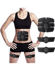 Muscle Stimulator Stimolatore muscolare,Charminer Electric Massager Bodybuilder Muscoli Braccio del corpo e piedini per uomini o donne Nero per uomini o donne